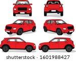 illustration of car model sheet | Shutterstock .eps vector #1601988427
