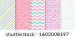 scrapbook background. seamless... | Shutterstock .eps vector #1602008197