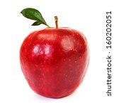 fresh red apple on white... | Shutterstock . vector #160202051