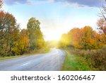 Empty Autumn Road