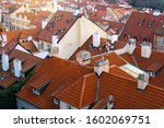 Tiled Roofs Of Houses In Pragu...