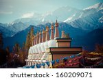 ladakh in indian himalayas ...   Shutterstock . vector #160209071