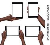 man holding blank tablets... | Shutterstock . vector #160209305