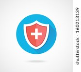 vector medical shield icon | Shutterstock .eps vector #160213139