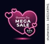 valentines day mega sale love...   Shutterstock .eps vector #1602143941