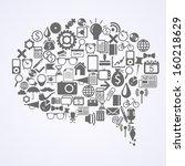 bubble shape composition | Shutterstock .eps vector #160218629