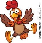 happy cartoon chicken. vector... | Shutterstock .eps vector #160218674