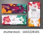 vertical and horizontal banner... | Shutterstock .eps vector #1602228181