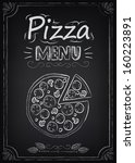 pizza. illustration of a... | Shutterstock .eps vector #160223891