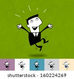 success. business cartoon... | Shutterstock .eps vector #160224269