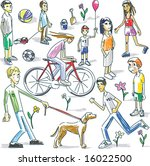 vector illustration of playing... | Shutterstock .eps vector #16022500
