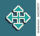 Green Pixel Arrows In Four...