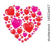 valentine's background with... | Shutterstock . vector #160226417