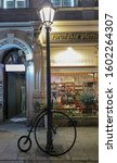 Small photo of Krakow, Poland 12/10/19 A stunning penny farthing on display