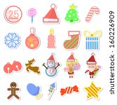 set of christmas icons. vector... | Shutterstock .eps vector #160226909