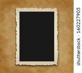 old photo on cardboard...   Shutterstock . vector #160227905