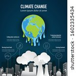 climate change infographic ... | Shutterstock .eps vector #1602335434
