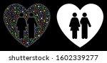 flare mesh family love heart... | Shutterstock .eps vector #1602339277
