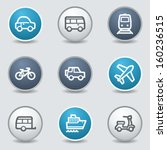 transport web icons  circle...   Shutterstock .eps vector #160236515