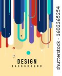 abstract design template with...   Shutterstock .eps vector #1602365254
