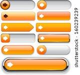 arrow orange design elements... | Shutterstock .eps vector #160239239