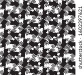 grunge halftone black and white ...   Shutterstock .eps vector #1602397621