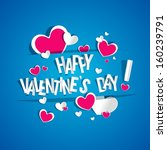 happy valentines day card... | Shutterstock .eps vector #160239791
