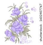 abstract digital pink flower...   Shutterstock . vector #1602407767