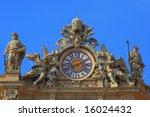 St.Peter's clock. Rome. - stock photo