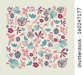 cartoon vector background with... | Shutterstock .eps vector #160247177