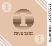 i initial logo template vector   Shutterstock .eps vector #1602473221