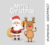 santa claus and christmas... | Shutterstock .eps vector #1602494617