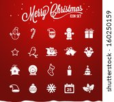 christmas icons | Shutterstock .eps vector #160250159