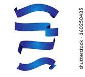 blue ribbon | Shutterstock .eps vector #160250435