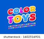 vector bright logo color toys.... | Shutterstock .eps vector #1602516931
