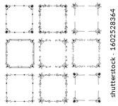 ornate frames and scroll... | Shutterstock .eps vector #1602528364