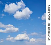 Clouds on the blue sky composition - stock photo
