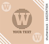 w initial logo template vector   Shutterstock .eps vector #1602547504