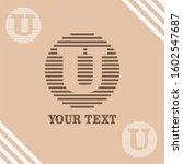 u initial logo template vector   Shutterstock .eps vector #1602547687