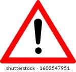 Attention Warning Sign  Logo...