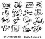 doodle handwritten catchwords...   Shutterstock .eps vector #1602566191