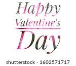 "The Word ""happy Valentine\'sday..."