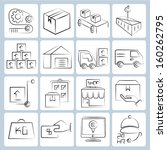 logistic icons  shipping icons... | Shutterstock .eps vector #160262795