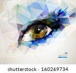 female eye created from... | Shutterstock .eps vector #160269734