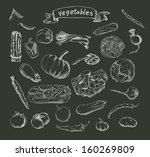 illustration of a set of hand... | Shutterstock . vector #160269809