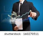 businessman analyze graph | Shutterstock . vector #160270511