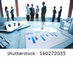close up of business document... | Shutterstock . vector #160272035