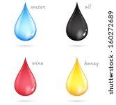 vector set of color drops  | Shutterstock .eps vector #160272689
