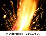 abstract spark danger flame... | Shutterstock . vector #16027507