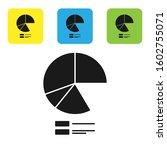 black pie chart infographic...
